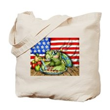 Patriotic Turtle Tote Bag