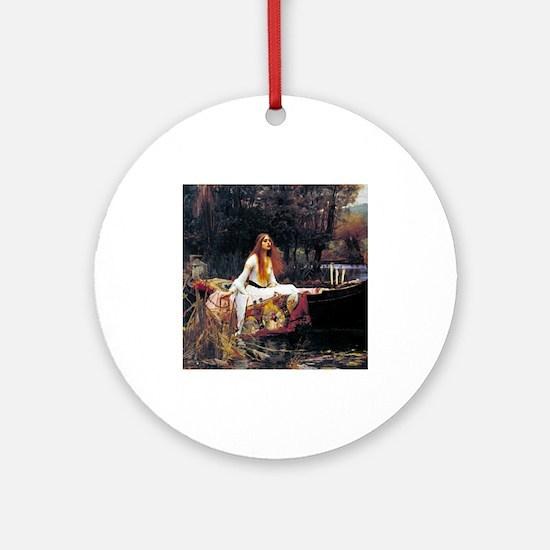 Waterhouse Lady Of Shalott Ornament (Round)