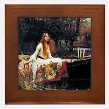 Waterhouse Lady Of Shalott Framed Tile