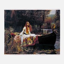 Waterhouse Lady Of Shalott Throw Blanket