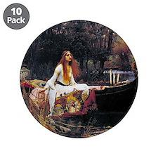 """Waterhouse Lady Of Shalott 3.5"""" Button (10 pack)"""