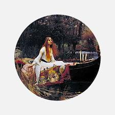 """Waterhouse Lady Of Shalott 3.5"""" Button"""