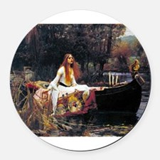 Waterhouse Lady Of Shalott Round Car Magnet