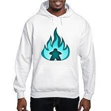 Fire Meeple Blue Hoodie