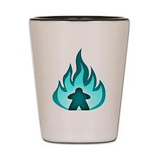 Fire Meeple Blue Shot Glass