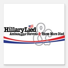 """Hilliary Lied Square Car Magnet 3"""" x 3"""""""