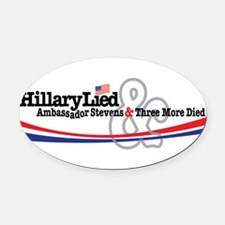 Hilliary Lied Oval Car Magnet