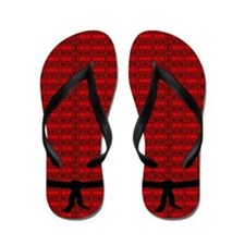 Martial Artist Black Belt red Flip Flops