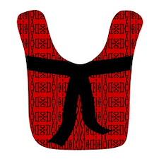 Martial Artist Black Belt red Bib