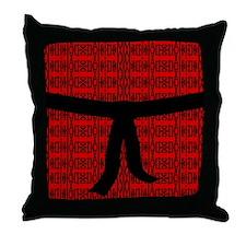 Martial Artist Black Belt red Throw Pillow