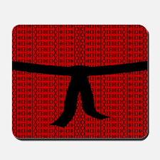 Martial Artist Black Belt red Mousepad