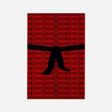 Martial Artist Black Belt red Rectangle Magnet