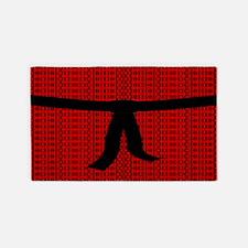 Martial Artist Black Belt red 3'x5' Area Rug