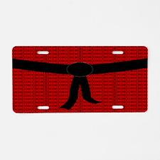 Martial Artist Black Belt r Aluminum License Plate