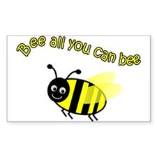 Bee All That You Can Bee Rectangle Decal