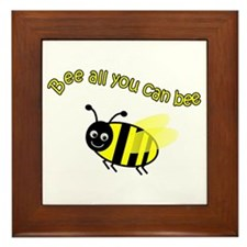 Bee All That You Can Bee Framed Tile