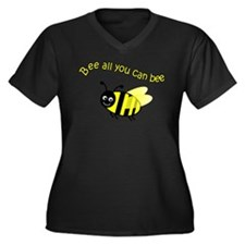 Bee All That You Can Bee Women's Plus Size V-Neck