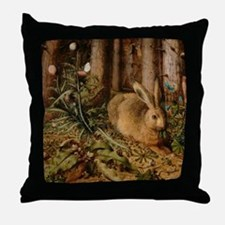 Hare In The Forest Throw Pillow