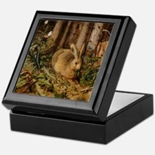 Hare In The Forest Keepsake Box