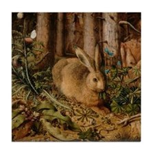 Hare In The Forest Tile Coaster