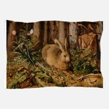 Hare In The Forest Pillow Case
