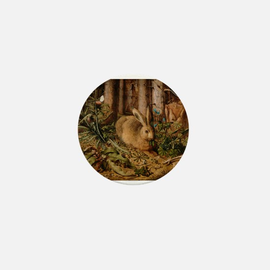 Hare In The Forest Mini Button