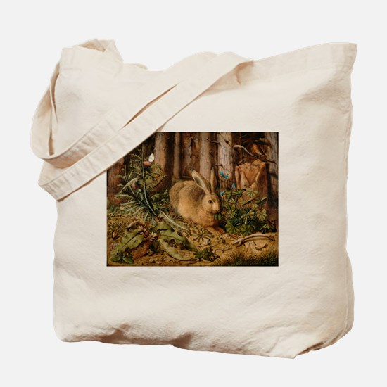Hare In The Forest Tote Bag