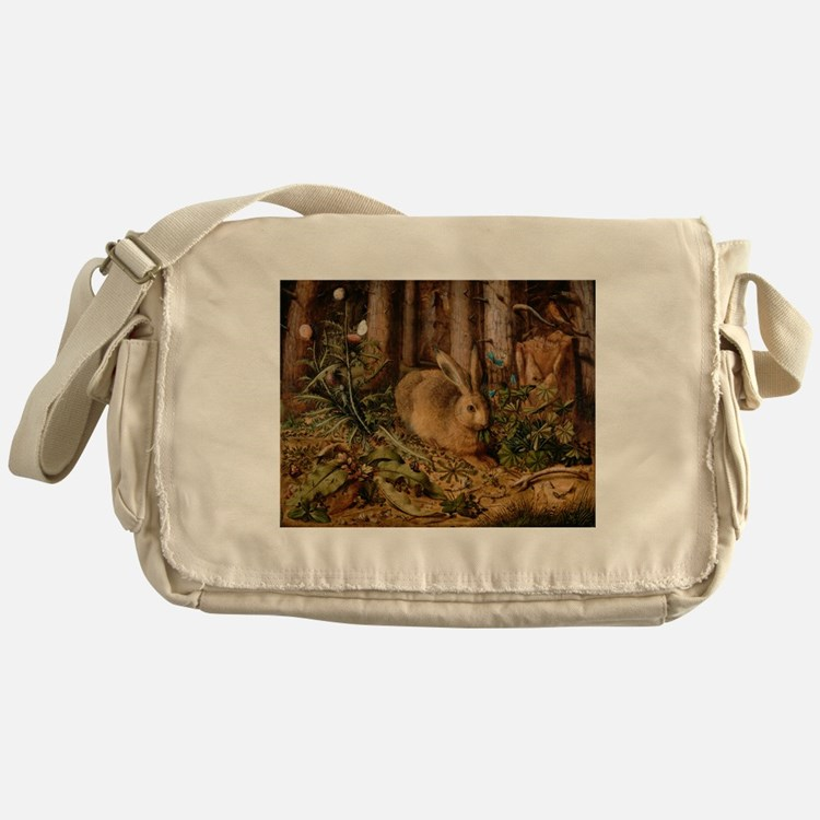 Hare In The Forest Messenger Bag