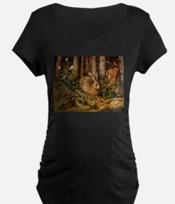 Hare In The Forest Maternity T-Shirt