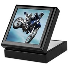 Dirt Bike Jump Keepsake Box
