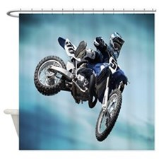 Dirt Bike Jump Shower Curtain