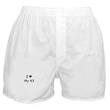 I Love My 63 Boxer Shorts