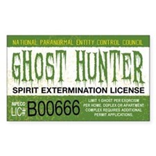 Ghost Hunter License Bumper Stickers