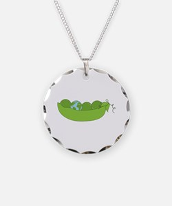 Green World Peas Necklace
