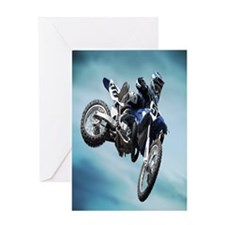Dirt Bike Jump Greeting Cards