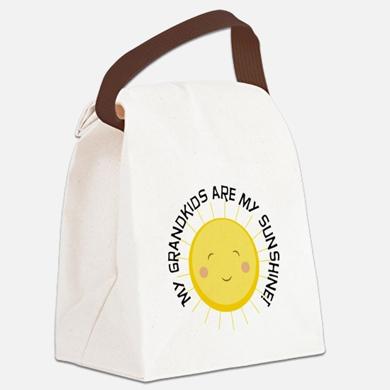 Grandkids Are Sunshine Canvas Lunch Bag