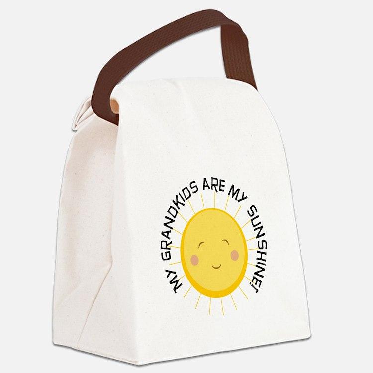 Grandkids Are Sunshine Canvas Lunch Bag