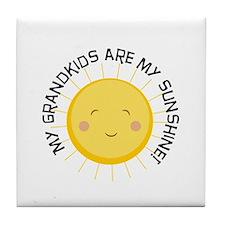 Grandkids Are Sunshine Tile Coaster