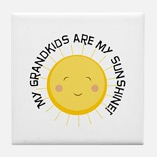 Grandkids Are Sunshine Tile Coaster