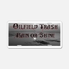 Cute Oilfield Aluminum License Plate