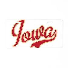 Iowa Aluminum License Plate