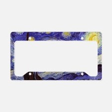 Van Gogh Starry Night License Plate Holder