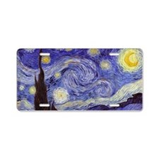 Van Gogh Starry Night Aluminum License Plate