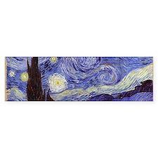 Van Gogh Starry Night Bumper Bumper Sticker