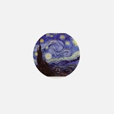 Van Gogh Starry Night Mini Button
