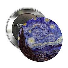 "Van Gogh Starry Night 2.25"" Button"
