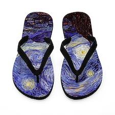 Van Gogh Starry Night Flip Flops