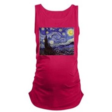 Van Gogh Starry Night Maternity Tank Top
