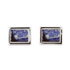 Van Gogh Starry Night Rectangular Cufflinks