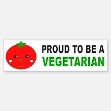 Proud To Be A Vegetarian Bumper Bumper Bumper Sticker